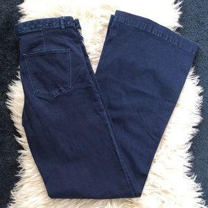 Madewell widelegger super flare high rise jeans 29